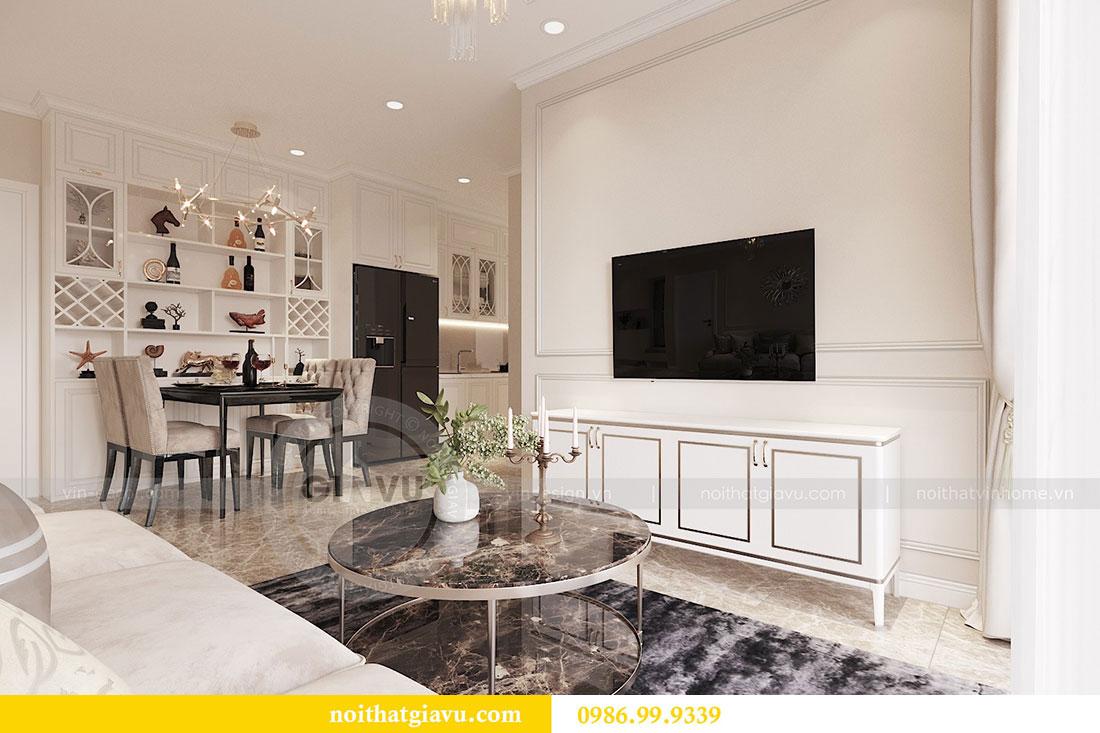 Tham khảo mẫu thiết kế nội thất chung cư 62m2 nhà chị Phương 2