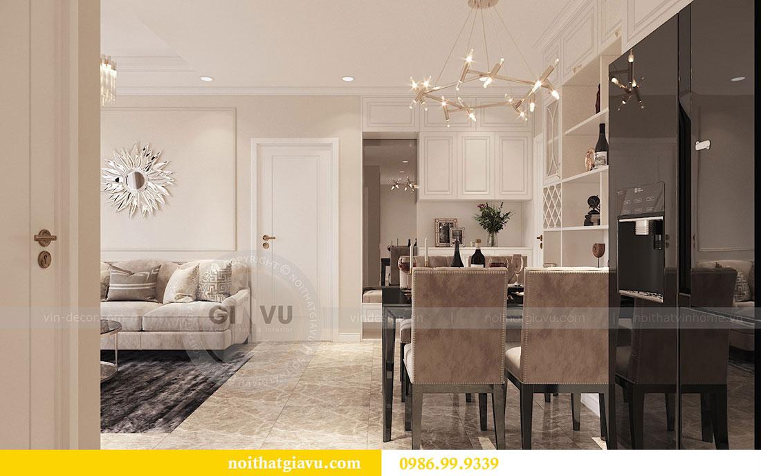 Tham khảo mẫu thiết kế nội thất chung cư 62m2 nhà chị Phương 3