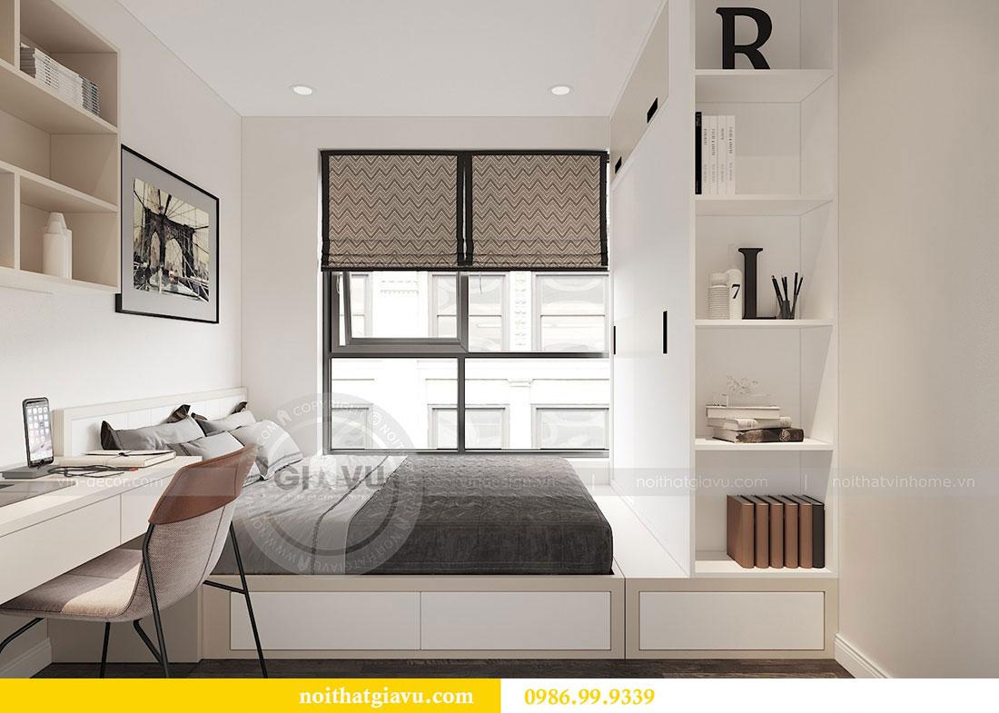 Tham khảo mẫu thiết kế nội thất chung cư 62m2 nhà chị Phương 8