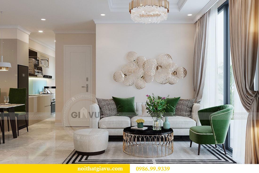 Thiết kế chung cư Dcapitale tòa C6 căn 05 đẹp hiện đại - chị Nụ 1