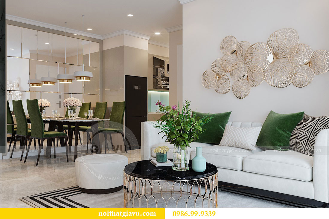 Thiết kế chung cư Dcapitale tòa C6 căn 05 đẹp hiện đại - chị Nụ 2