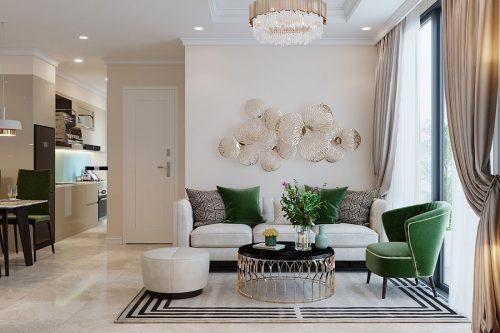 Thiết kế chung cư Dcapitale tòa C6 căn 05 đẹp hiện đại – chị Nụ