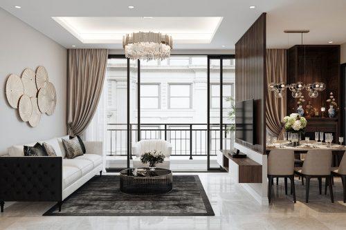 Nội thất Gia Vũ | Thiết kế nội thất chung cư tòa C3 căn 09 nhà anh Đoan