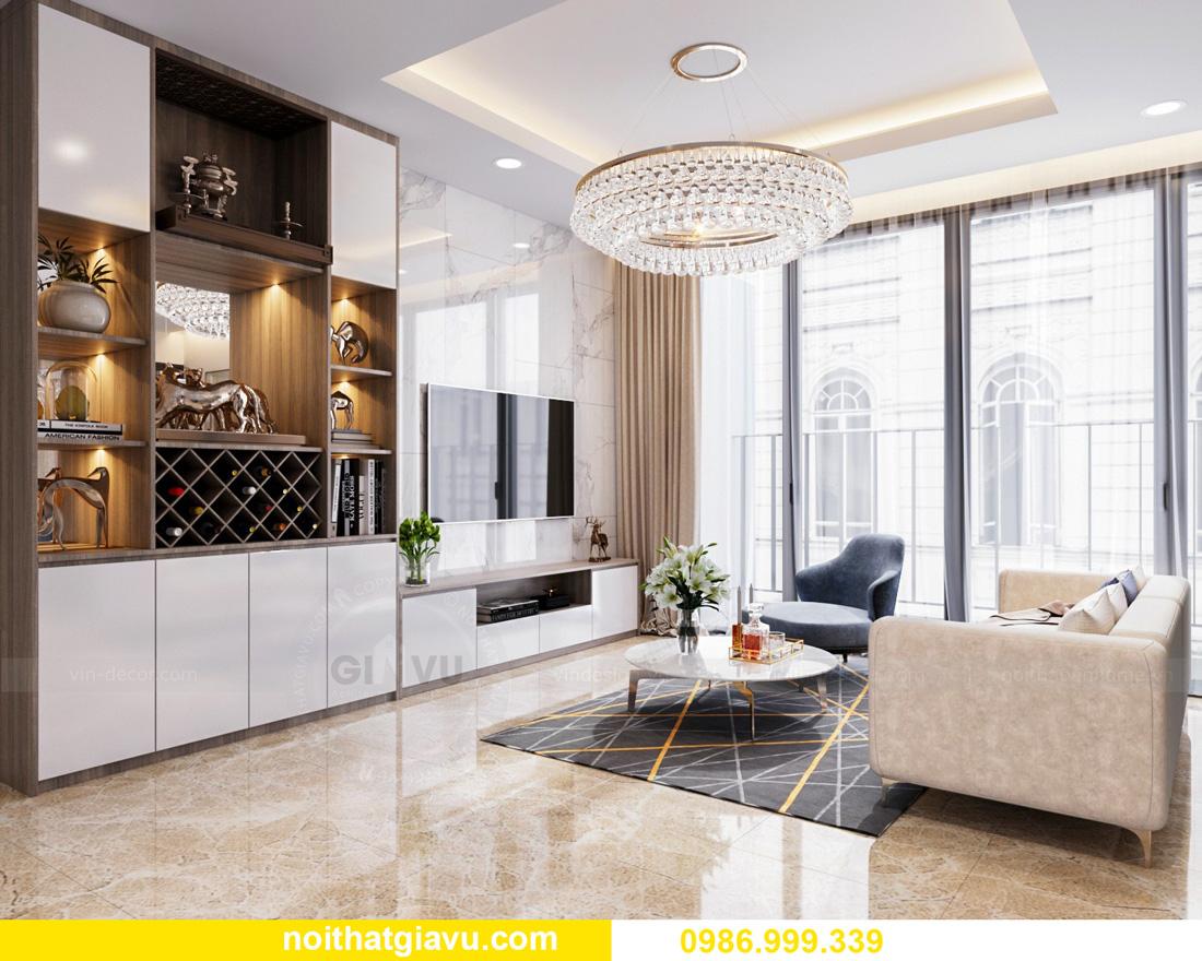 thiết kế nội thất căn hộ Vinhomes Ocean Park Gia Lâm đẹp, đẳng cấp 03