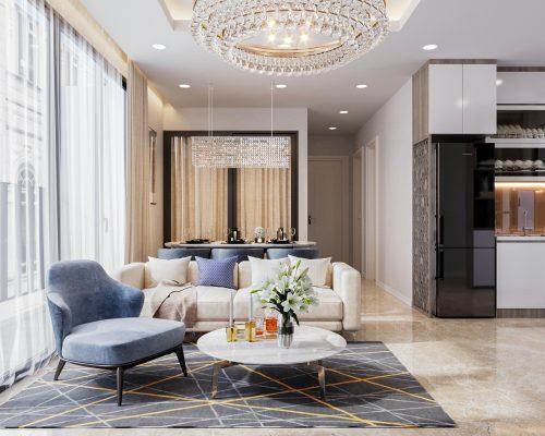 Thiết kế nội thất căn hộ Vinhomes Ocean Park Gia Lâm – đẹp, đẳng cấp