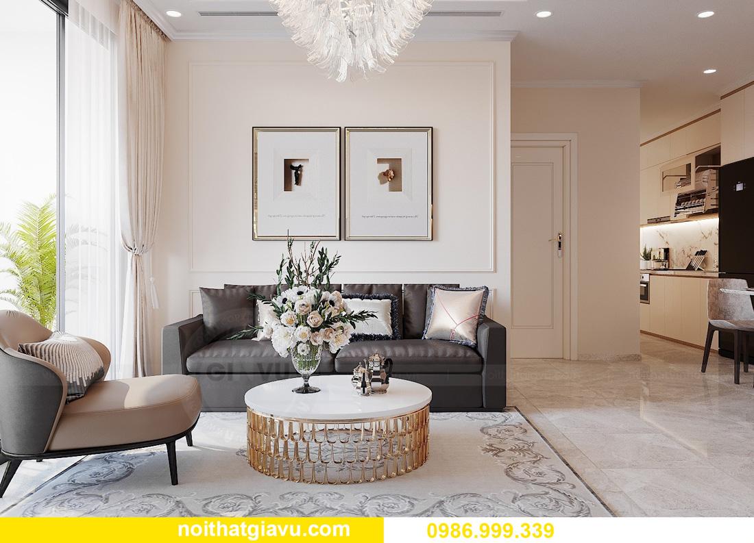 thiết kế nội thất chung cư West Point 2 ngủ đơn giản nhẹ nhàng 05