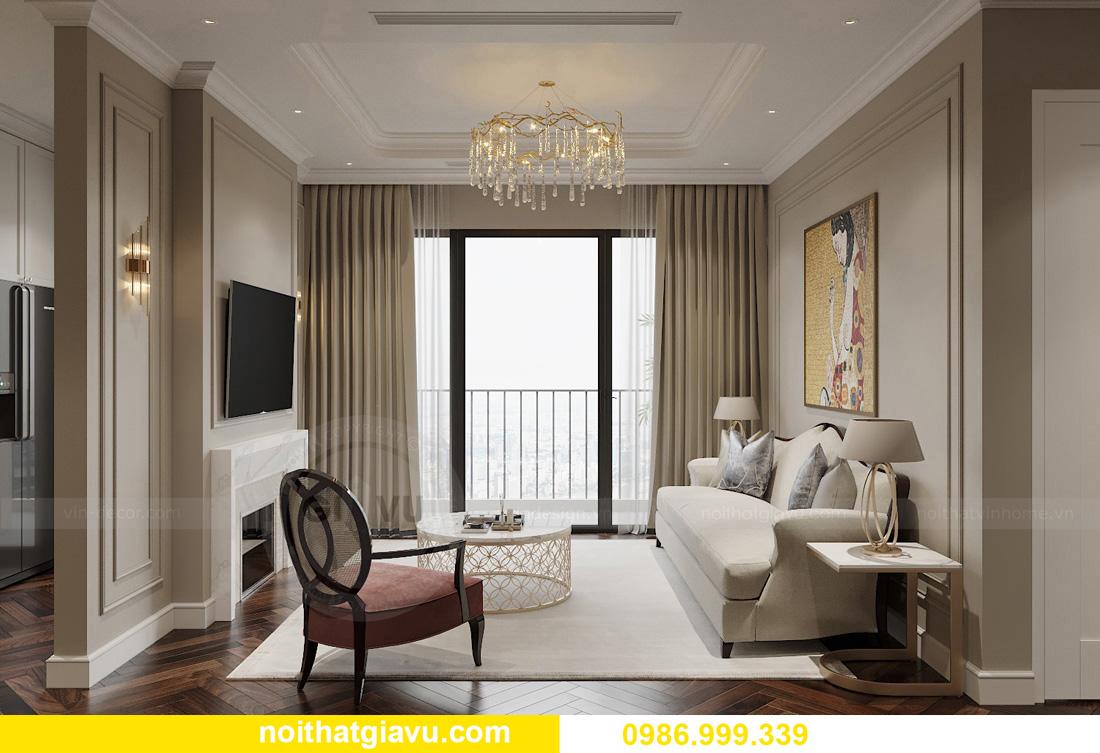 thiết kế thi công nội thất chung cư West Point tòa W3 căn 05A 3
