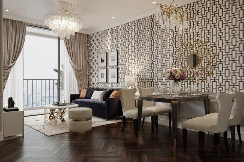 Thiết kế nội thất Vinhomes West Point tòa W3 căn hộ 12 – Mr.Khang