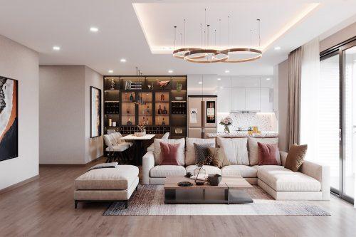 Thiết kế nội thất chung cư Vinhomes West Point căn 3 phòng ngủ
