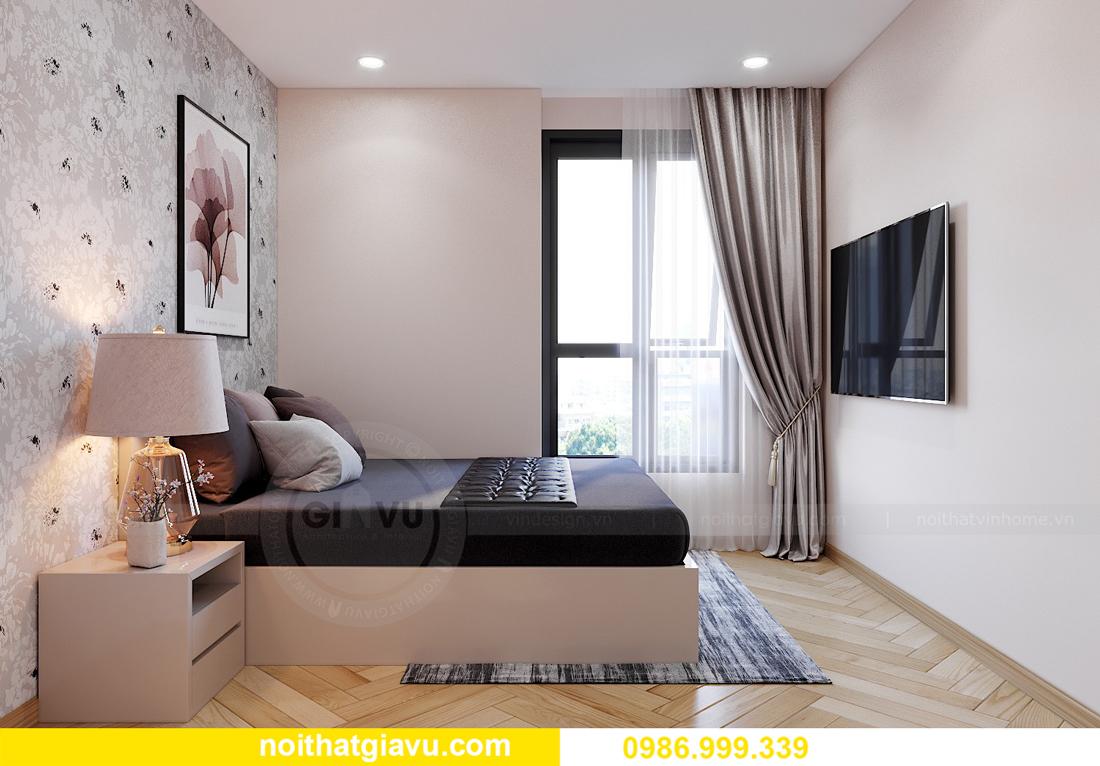 thiết kế nội thất Vinhomes Smart City Tây Mỗ căn 3 ngủ 12