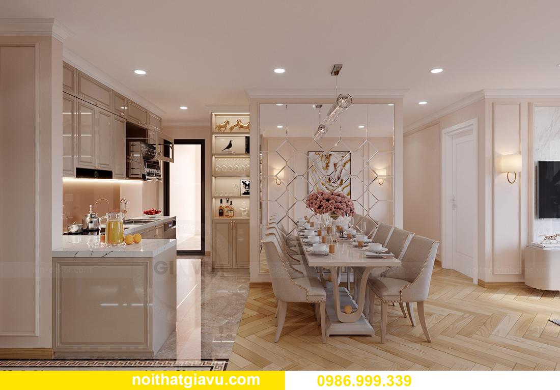 thiết kế nội thất Vinhomes Smart City Tây Mỗ căn 3 ngủ 3