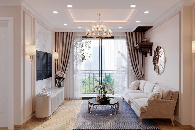 Thiết kế nội thất Vinhomes Smart City Tây Mỗ căn 3 ngủ