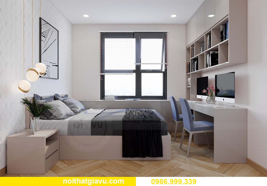 thiết kế nội thất Vinhomes Smart City Tây Mỗ căn 3 ngủ 9