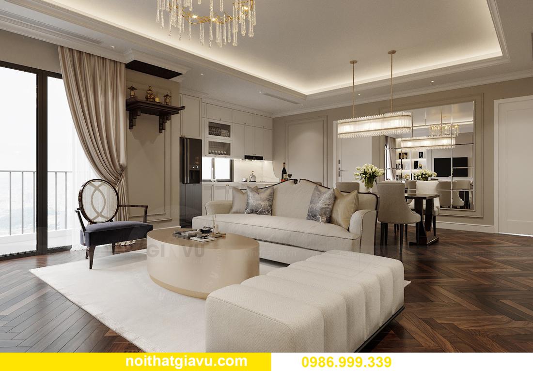thiết kế nội thất chung cư Imperia Sky Garden nhà chị Nga 4