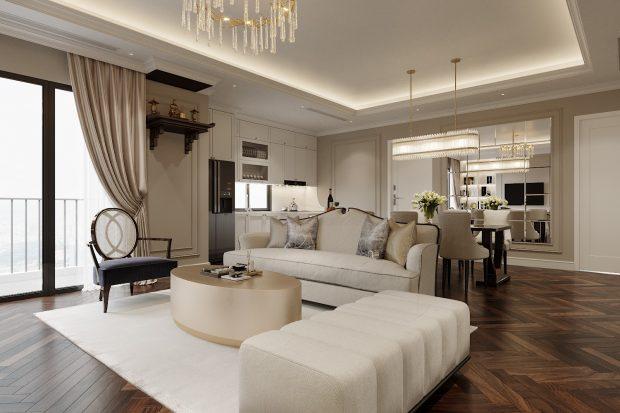 Thiết kế nội thất chung cư Imperia Sky Garden nhà chị Nga