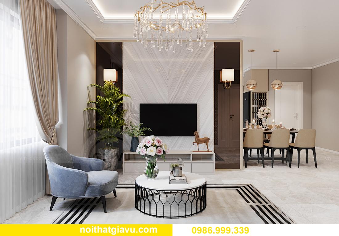 thiết kế nội thất tại chung cư IA20 Ciputra căn 3 ngủ 4