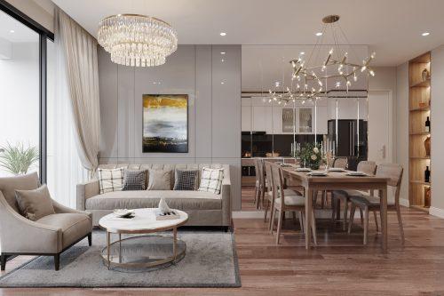 5 thiết kế nội thất phòng khách chung cư chuộng nhất năm 2020
