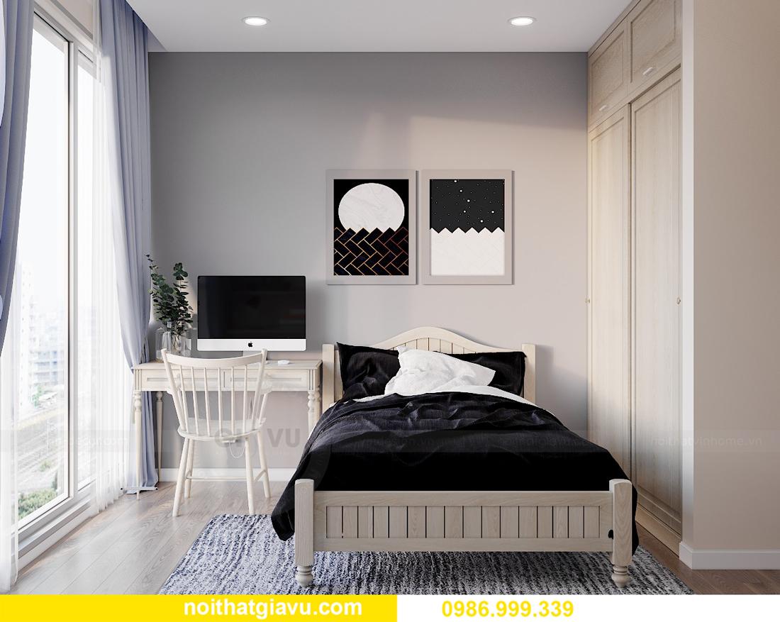 thiết kế thi công nội thất Vinhomes Smart City căn 3 ngủ 11