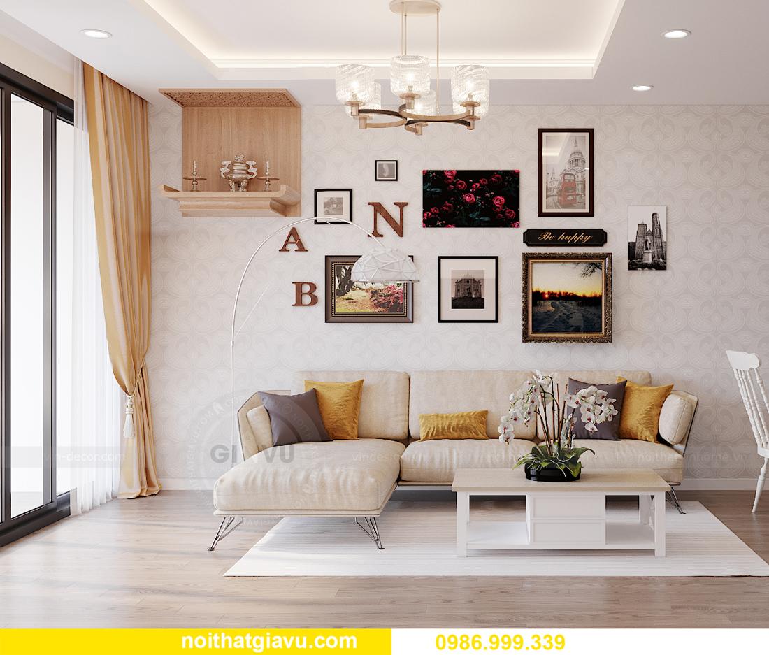 thiết kế thi công nội thất Vinhomes Smart City căn 3 ngủ 2
