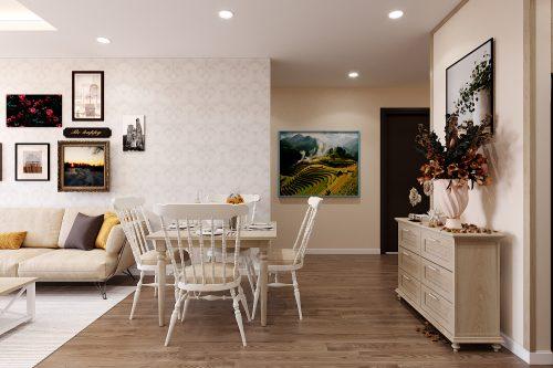 Thiết kế thi công nội thất Vinhomes Smart City căn 3 ngủ