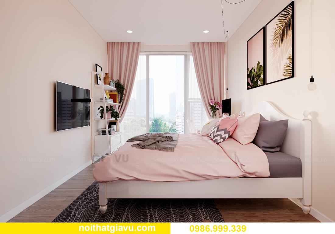 thiết kế thi công nội thất Vinhomes Smart City căn 3 ngủ 9