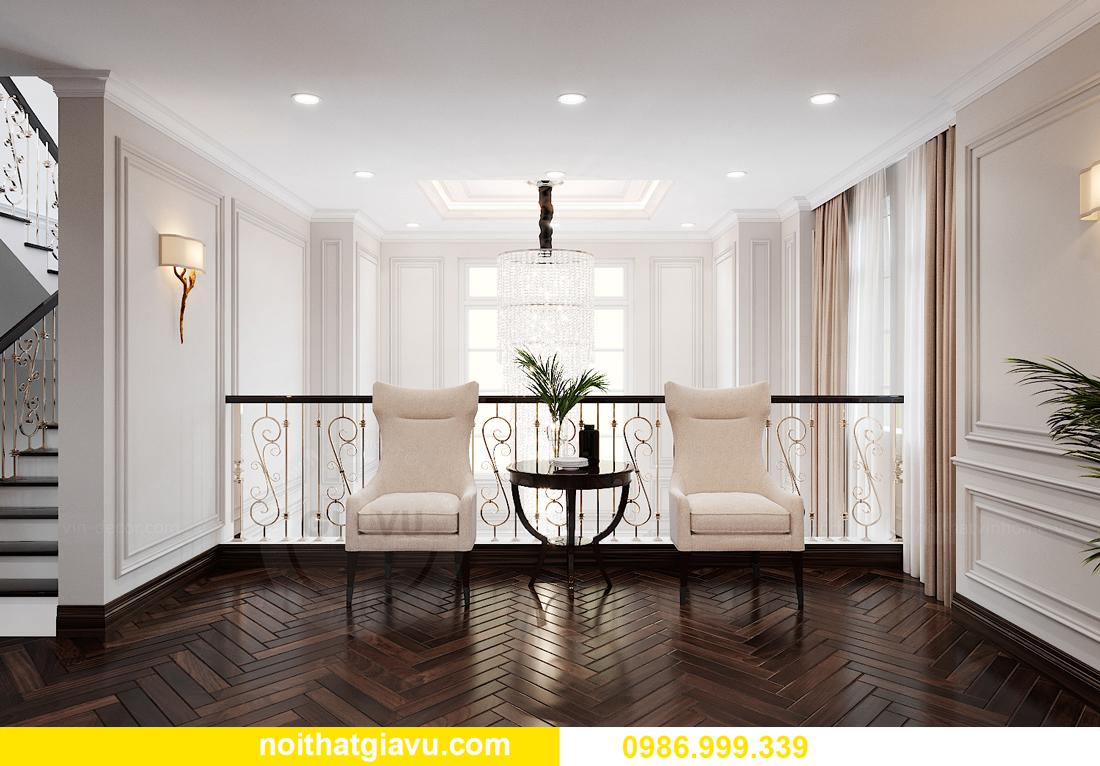 thiết kế nội thất biệt thự OCean Park căn đơn lập Ngọc Trai 25