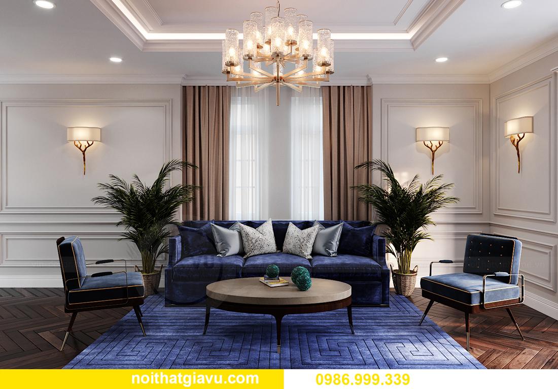 thiết kế nội thất biệt thự OCean Park căn đơn lập Ngọc Trai 26