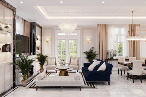 Thiết kế nội thất biệt thự OCean Park căn đơn lập Ngọc Trai