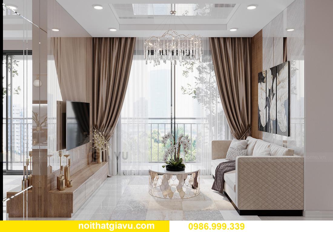 mẫu thiết kế nội thất căn hộ 01 tòa S202 Vinhomes Smart City 5