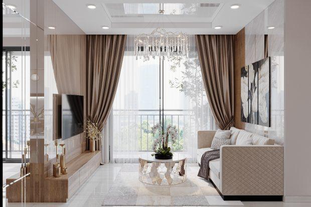 Mẫu thiết kế nội thất căn hộ 01 tòa S202 Vinhomes Smart City