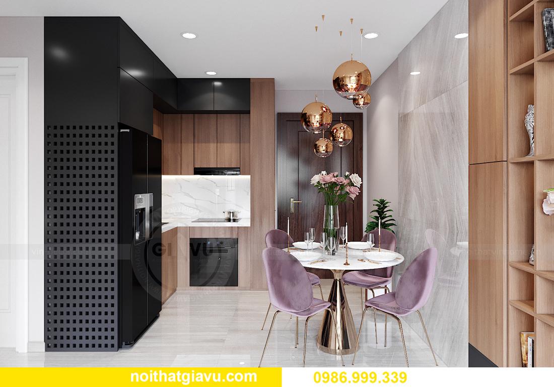 mẫu thiết kế nội thất Smart City tòa S202 căn hộ 17 chị Vy 1