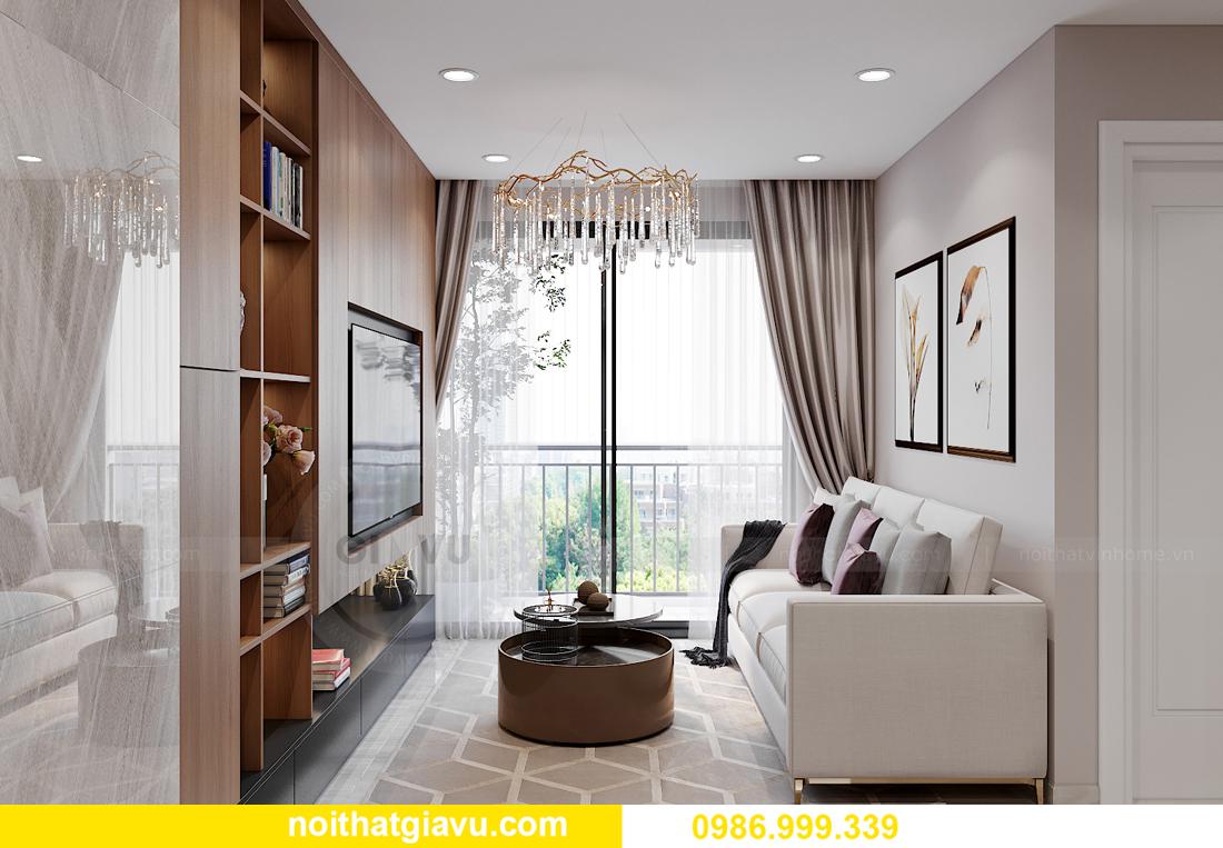 mẫu thiết kế nội thất Smart City tòa S202 căn hộ 17 chị Vy 3