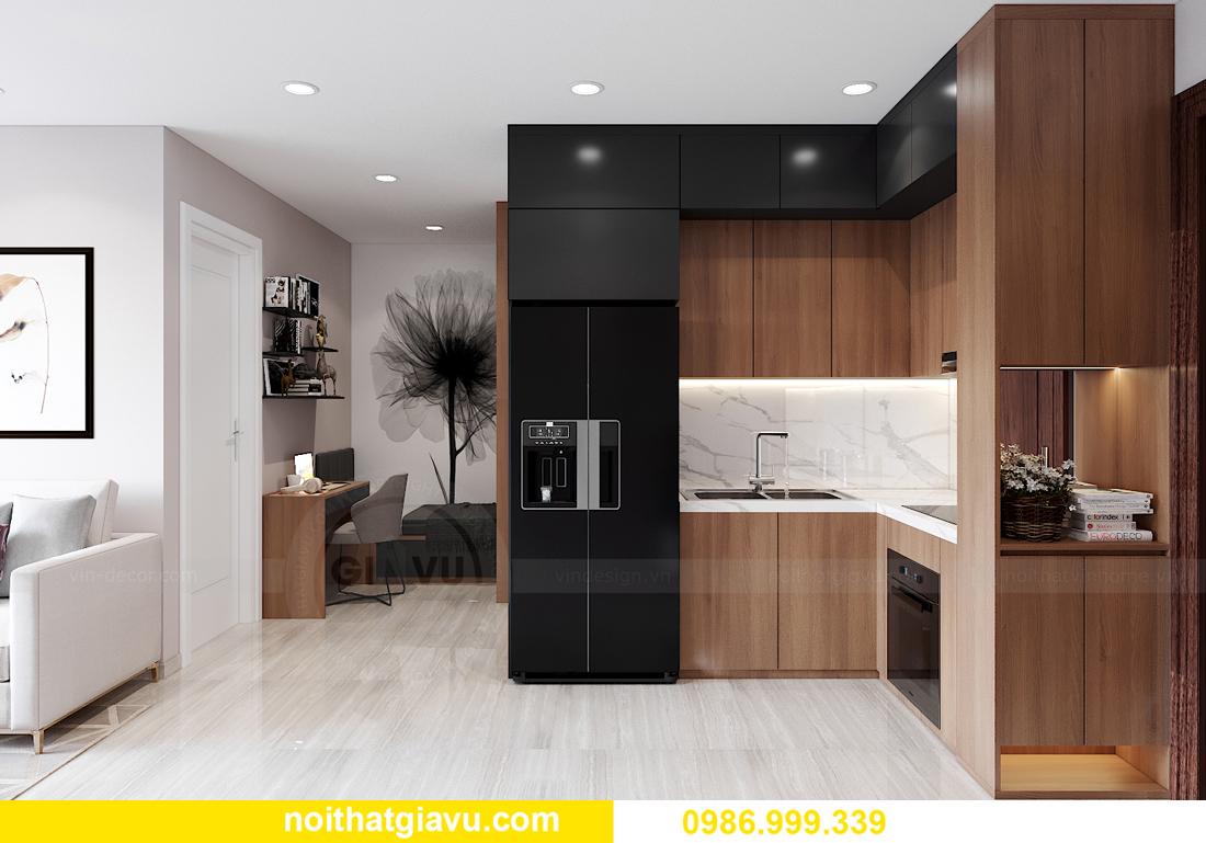 mẫu thiết kế nội thất Smart City tòa S202 căn hộ 17 chị Vy 5