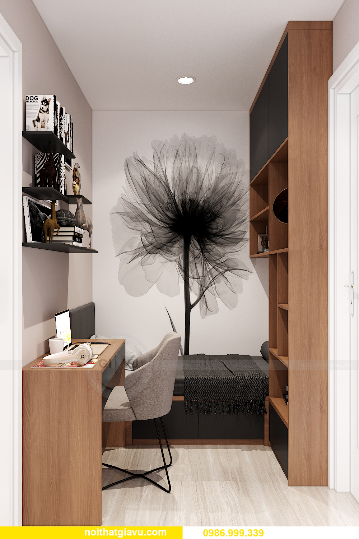 mẫu thiết kế nội thất Smart City tòa S202 căn hộ 17 chị Vy 6