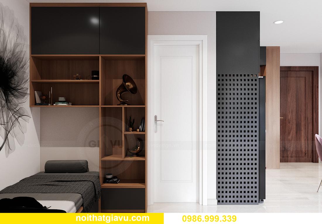 mẫu thiết kế nội thất Smart City tòa S202 căn hộ 17 chị Vy 7