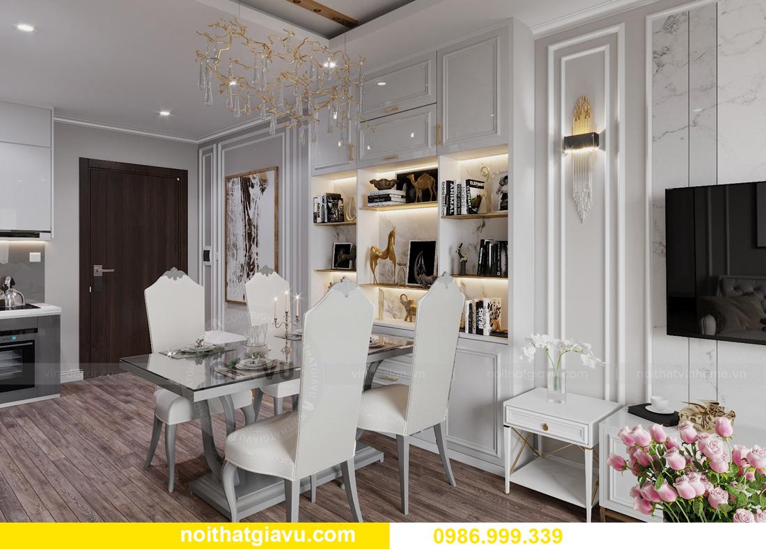 thiết kế nội thất căn hộ 2 ngủ tại chung cư Smart City nhà chị Hà 1