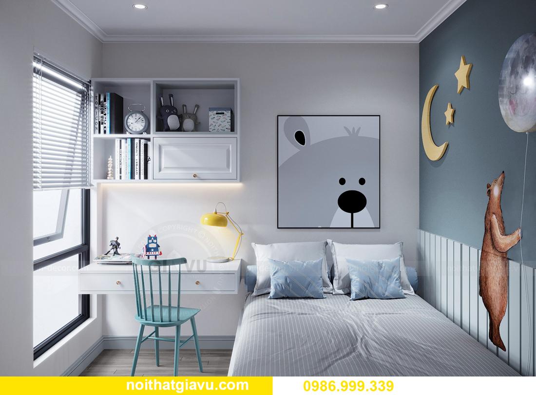thiết kế nội thất căn hộ 2 ngủ tại chung cư Smart City nhà chị Hà 10
