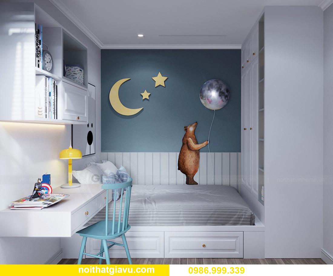 thiết kế nội thất căn hộ 2 ngủ tại chung cư Smart City nhà chị Hà 11