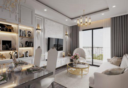 Thiết kế nội thất căn hộ 2 ngủ tại chung cư Smart City – chị Hà