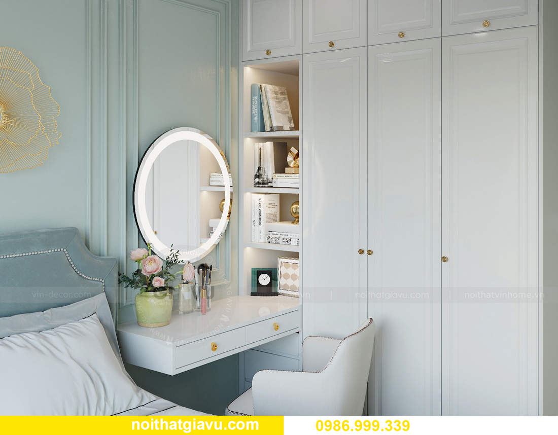 thiết kế nội thất căn hộ 2 ngủ tại chung cư Smart City nhà chị Hà 8