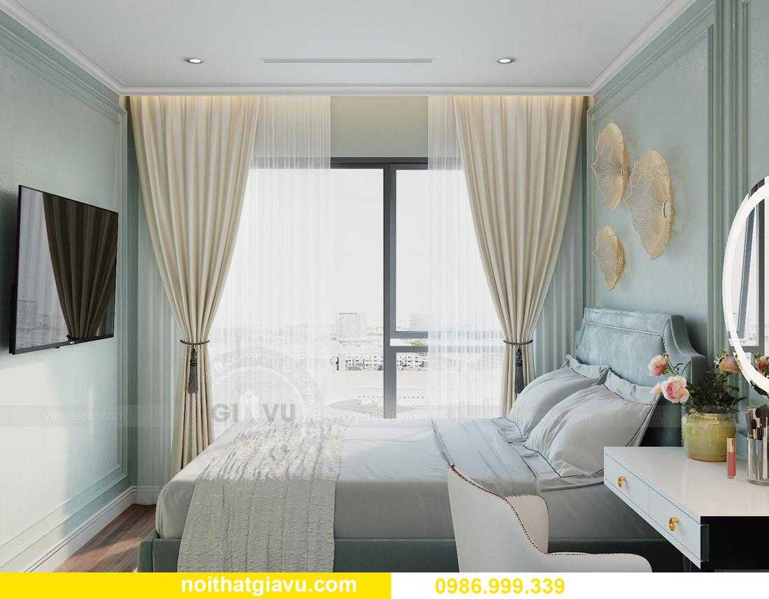 thiết kế nội thất căn hộ 2 ngủ tại chung cư Smart City nhà chị Hà 9