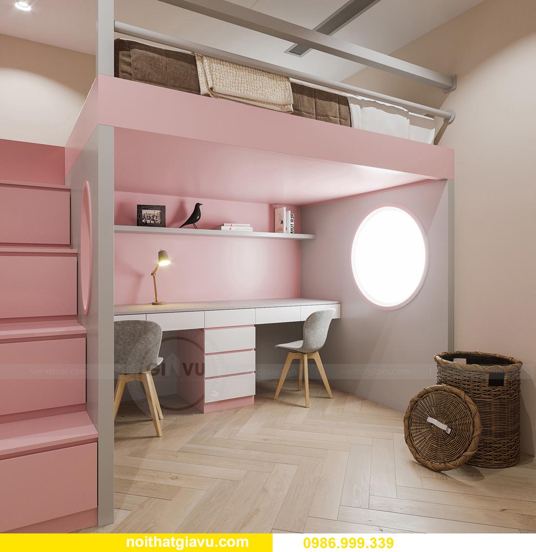 thiết kế thi công nội thất Smart City tòa S102 căn 17 chị Hà 13