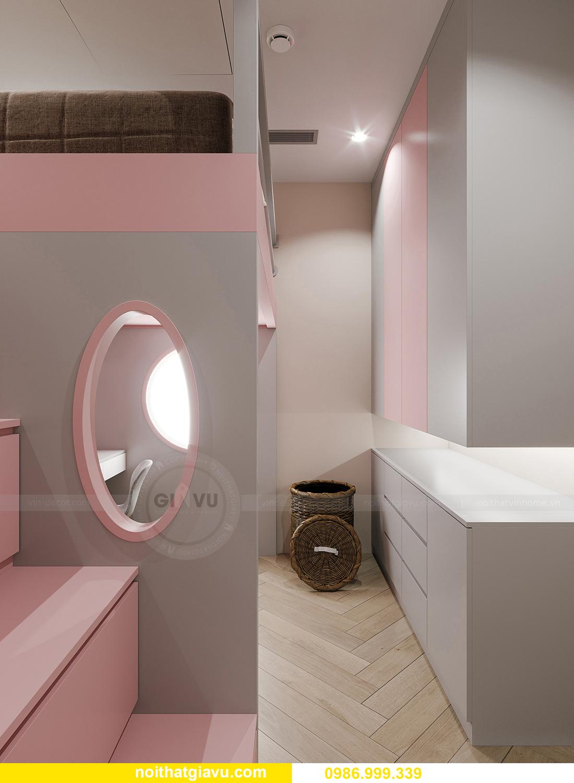thiết kế thi công nội thất Smart City tòa S102 căn 17 chị Hà 14