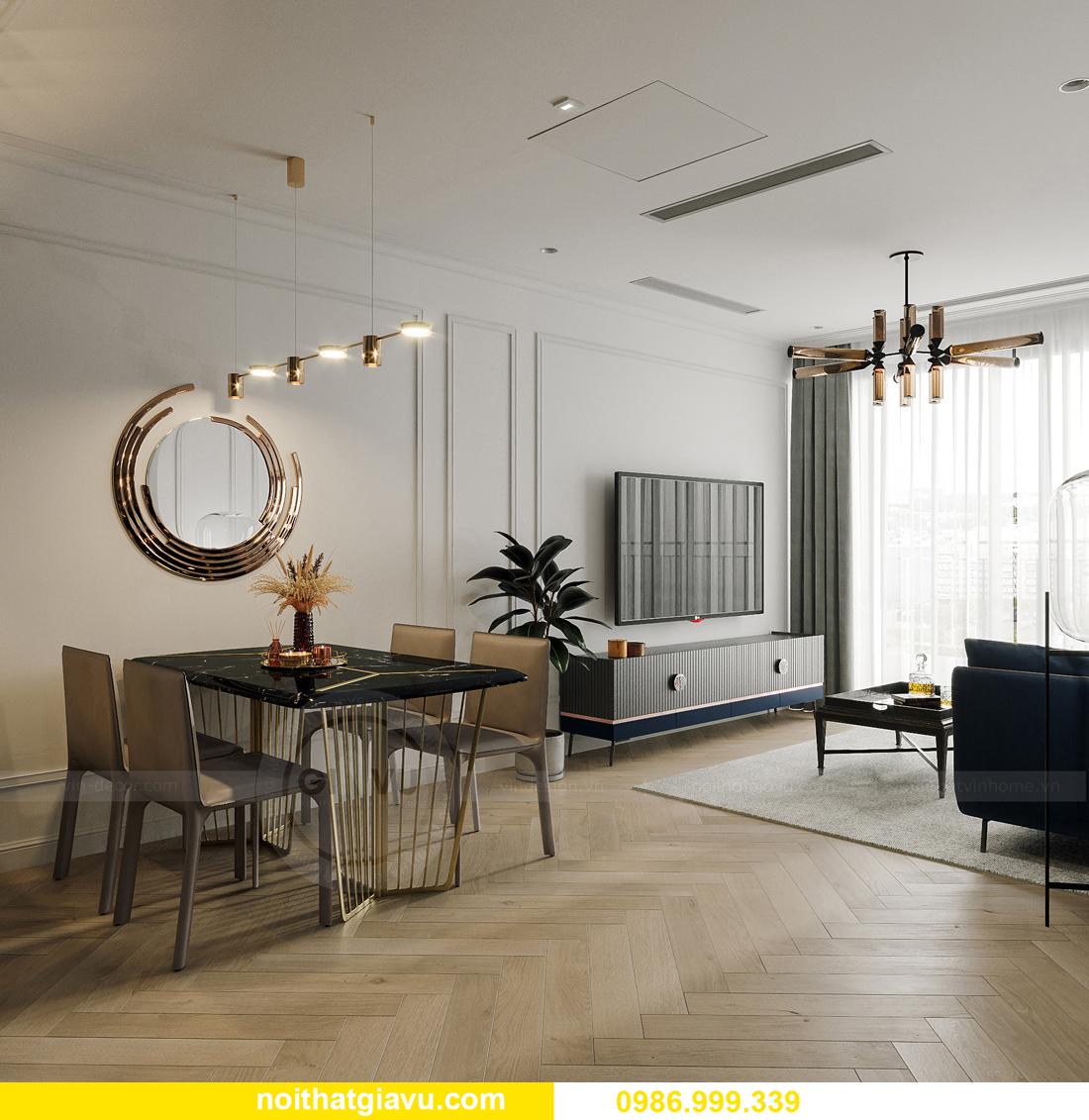 thiết kế thi công nội thất Smart City tòa S102 căn 17 chị Hà 5