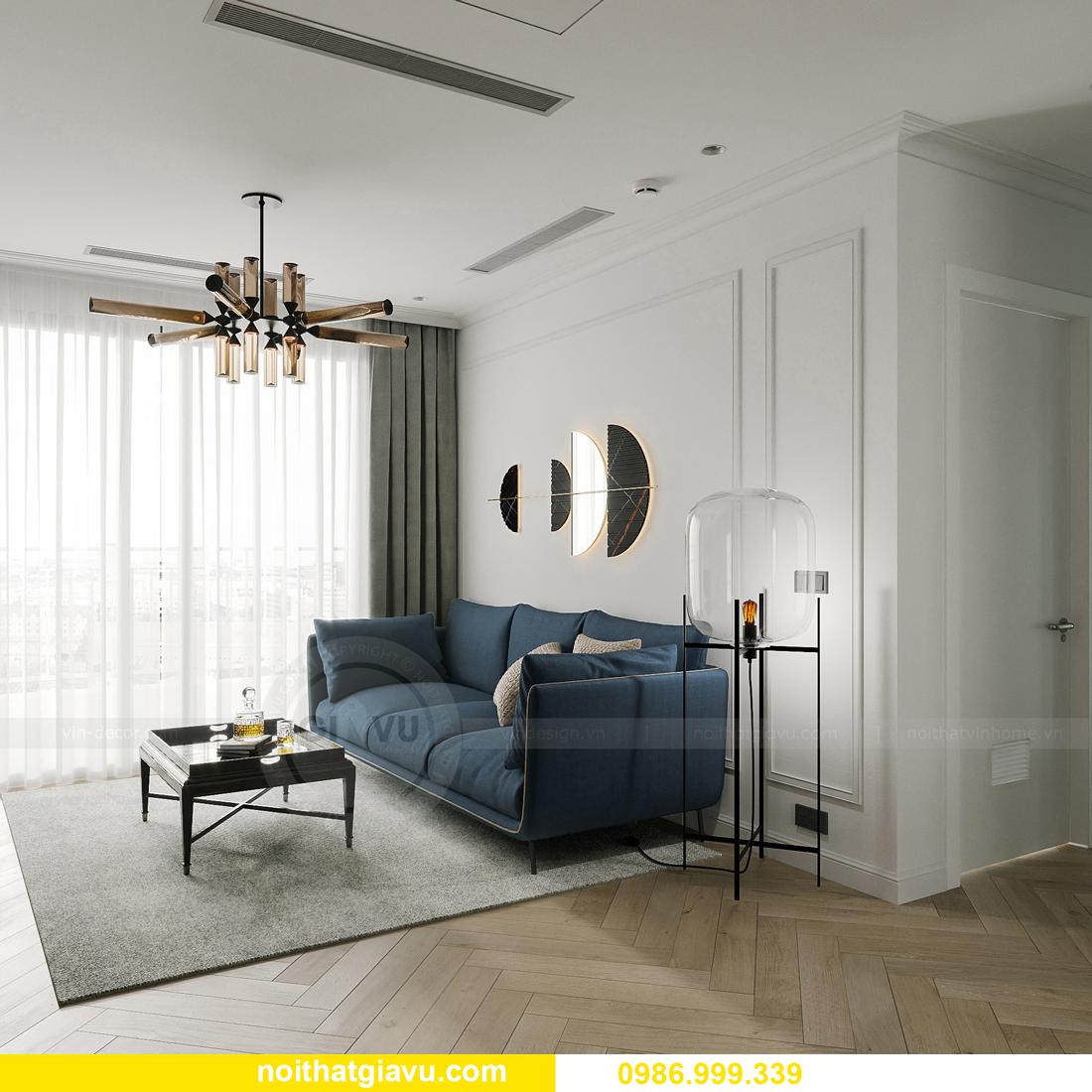 thiết kế thi công nội thất Smart City tòa S102 căn 17 chị Hà 7