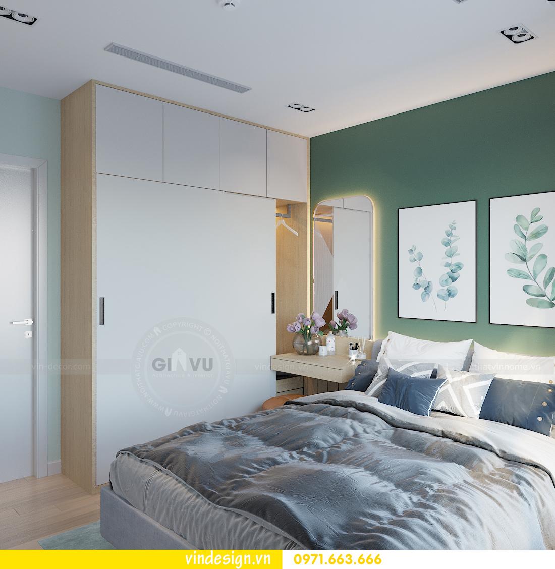 mẫu thiết kế nội thất căn hộ Smart City tòa S101 căn 11 11