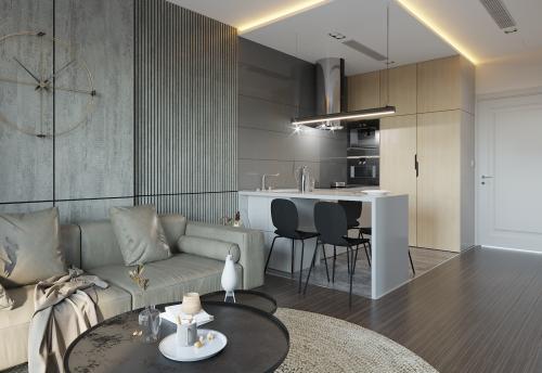 Mẫu thiết kế nội thất căn hộ Smart City tòa S101 căn 11