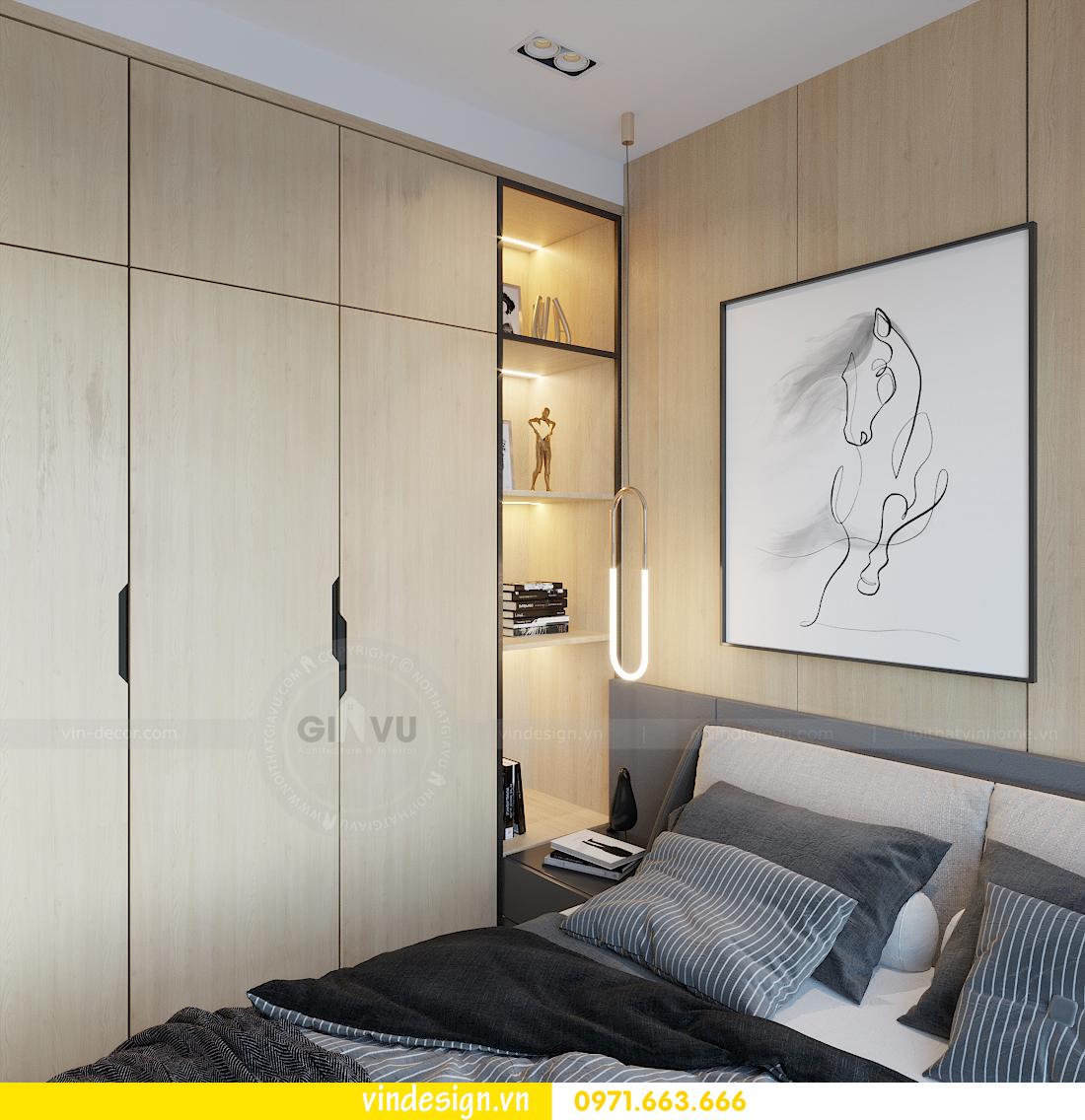 mẫu thiết kế nội thất căn hộ Smart City tòa S101 căn 11 7