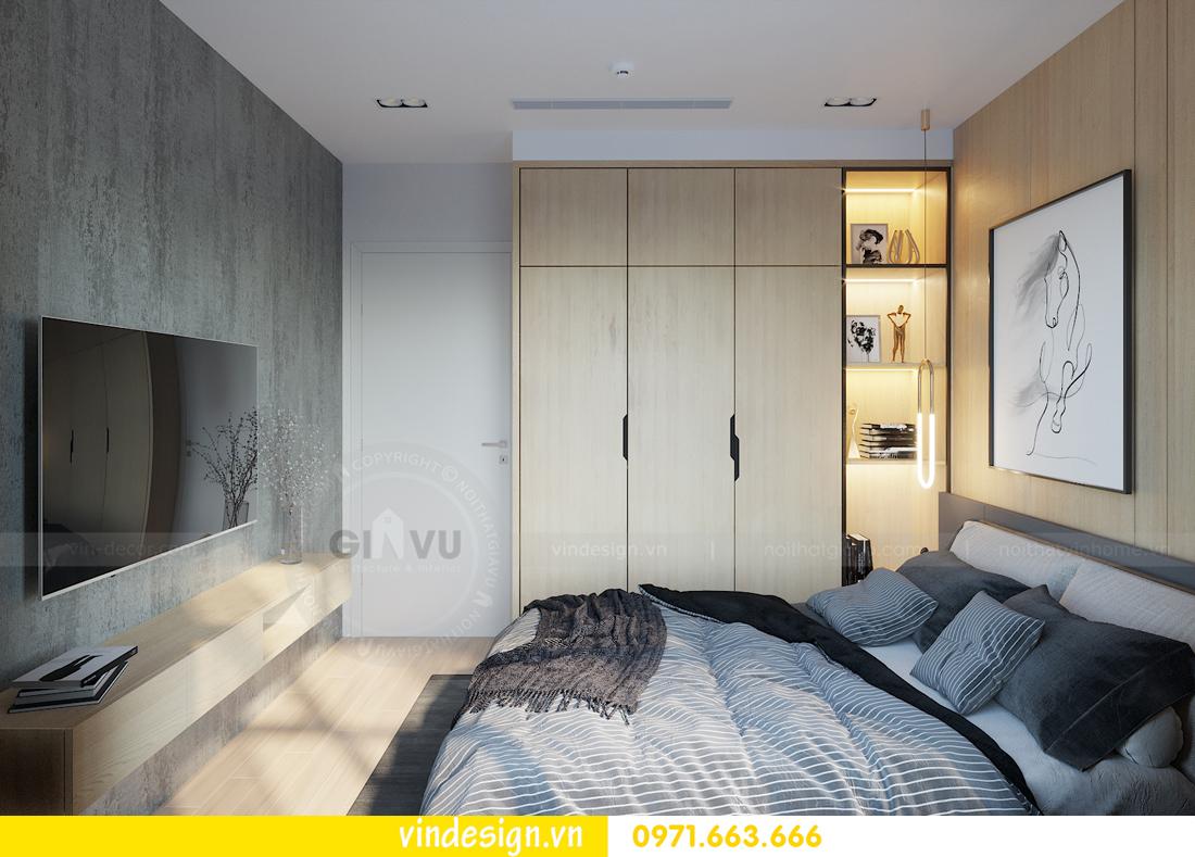 mẫu thiết kế nội thất căn hộ Smart City tòa S101 căn 11 8