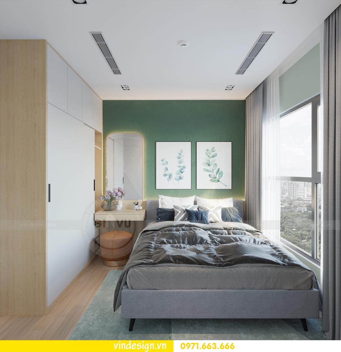 mẫu thiết kế nội thất căn hộ Smart City tòa S101 căn 11 9